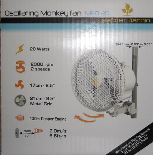 Secret Jardin Ventilatore Clip Monkey Fan 20cm